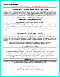 Summary Of Qualifications Sample Resume by Criminal Justice Resume Uses Summary Section Of The Qualifications