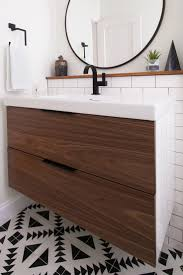 Modern Walnut Bathroom Vanity by Best 25 Ikea Bathroom Ideas Only On Pinterest Ikea Bathroom