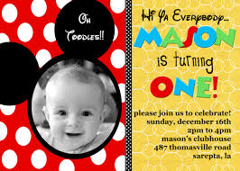 Birthday Invitation Cards For Kids Mickey Mouse Birthday Invitations Ideas