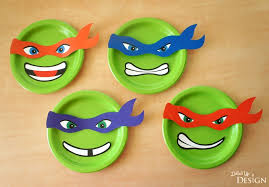ninja turtle paper plate banner free printables