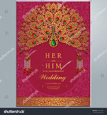 wedding invitation card abstract background islam stock vector