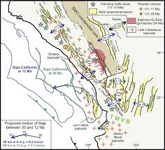 Sierra Madre Occidental Map Late Oligocene To Middle Miocene Rifting And Synextensional