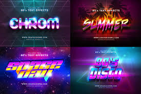 80s text effects on behance