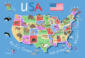 Map Of America With States by Maps Update Map Usa States Interactive World Travel Of South