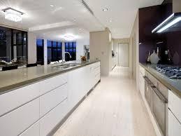 kitchen enchanting two tone black and white galley kitchen design