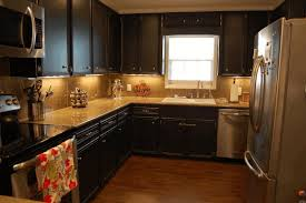 kitchen colors with black cabinets black l shape cabinet white
