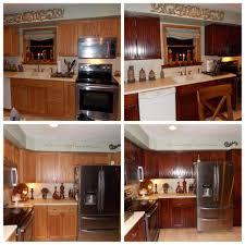 Kitchen Cabinets Mahogany Honey Oak Kitchen Restained Using General Finishes Brown Mahogany