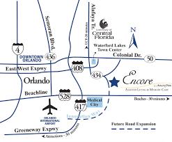 Orlando Florida On Map by Orlando Assisted Living Orlando Memory Care Encore At Avalon Park