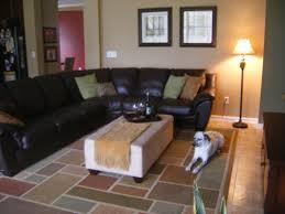 Black Leather Couch Living Room Ideas Living Room Modern Dark Brown Pattern Rug Living Room Design