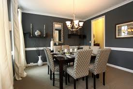 furniture interior striking gray upholstered dining chair and