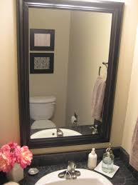 Black Distressed Bathroom Vanity by Mirror White Wood Frame 95 Cute Interior And Wood Framed Bathroom