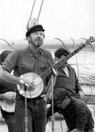 Pete Seeger on the Deck of the