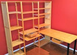 Container Store Bookshelves Ivar 2 Section Shelving Unit With Chest Pine Shelves String