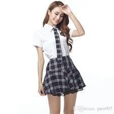 Sexiest Pirate Halloween Costumes Sale Red Gray Japanese Korea Uniforms Sailor Tops Tie