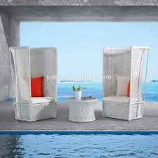 Modern Outdoor Chairs Plastic Commercial Modern Outdoor Furniture Sofa White Plastic Rattan