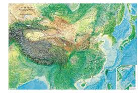 China Topographic Map by China Geography