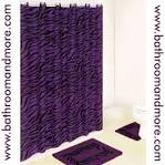 Purple Zebra Print Bath Mat and Fabric Shower Curtain Liner Set w ...