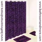 Purple Zebra Print Bath Mat and Fabric Shower Curtain Liner Set w ...
