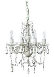 White Shabby Chic Chandelier by Crystal Chandeliers Gypsy Color