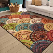 Multi Colored Bathroom Rugs Better Homes And Gardens Bright Dotted Circles Area Rug Or Runner