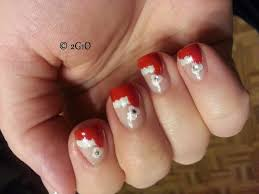 santa hat nails beautify themselves with sweet nails
