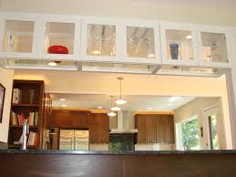 glass upper cabinet over the island kitchen dreams pinterest