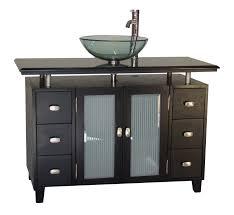 Inch Vessel Sink Bathroom Vanity Black Granite Top - Black bathroom vanity with vessel sink