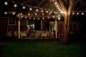 Patio Lights Outdoor by Outdoor Patio String Lighting Intended For Retro Outdoor String