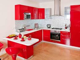 kitchen small kitchen design with red white cabinet storage and