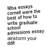 how to write a graduate school essay