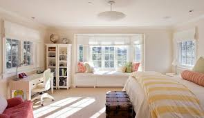 Bay Window Desk How To Solve The Curtain Problem When You Have Bay Windows