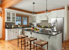 Kitchen Table Bar Style Elegance Country Style Kitchen Design With Pendant Lamps Above
