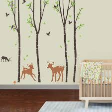 amazon com giant wall sticker decals birch tree forest with