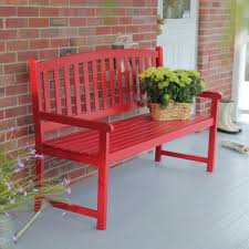 Outdoor Furniture Finish by 5 Ft Outdoor Garden Bench In Red Wood Finish With Armrest
