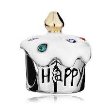 chamilia halloween beads 2017 fashion women jewelry bracelet metal happy birthday cake