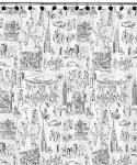 jazz men shower curtain