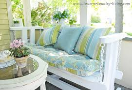 how to quickly update a porch glider inspire me challenge town