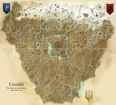 Morrowind Map Cyrodiil Map The Elder Scrolls Online Game Maps Com