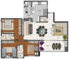 3 Bedroom Apartment Floor Plan 50 Three U201c3 U201d Bedroom Apartment House Plans Bedroom Floor Plans