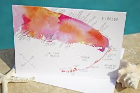 Map Florida Gulf Coast by Watercolor Island Map Greeting Cards U2013 Florida Coast