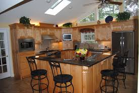 kitchen island beige marble top green distressed wood base