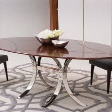 Oval Dining Room Tables Global Views Santos Oval Dining Table W Stainless Steel Base