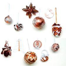 set of 12 different modern copper christmas tree ornaments u2013 serro