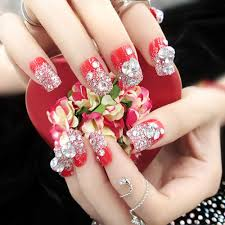 online get cheap french tip nails red aliexpress com alibaba group