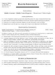 Inventory Specialist Resume Sample by Cool Quality Control Resume 8 And Quality Control Specialist
