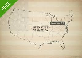 Map Of America With States by Free Vector Map Of United States Of America With States