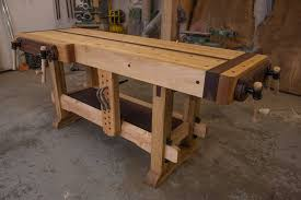 Plans For Building A Wooden Workbench by Woodworking The Samurai Workbench Youtube