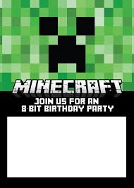 Online Invitation Card Design Free Free Minecraft Birthday Invitations Just Personalize And Print