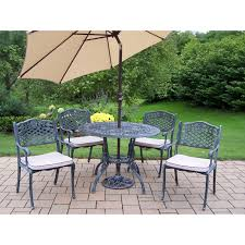 5 Pc Patio Dining Set - belham living stanton wrought iron dining set by woodard seats 6