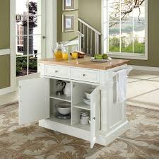 Kitchen Islands Carts by Amazon Com Crosley Furniture Kitchen Island With Butcher Block